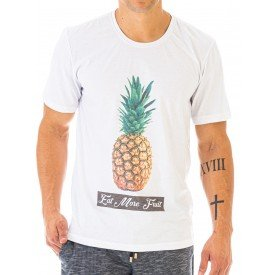 Camiseta Masculina Fruit Abacaxi Estampa Frontal Ecológica - Area Verde