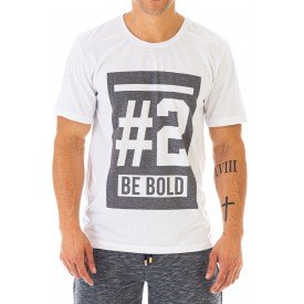 Camiseta Masculina Be Bold Estampa Frontal Ecológica - Area Verde