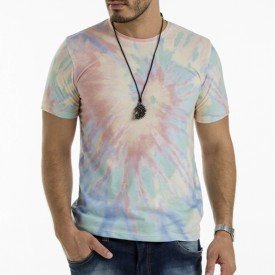 Camiseta Masculina Tie Dye Candy Total Sublimada Ecológica - Area Verde