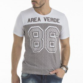 Camiseta Masculina Football 86 Estampa Frontal Ecológica - Area Verde