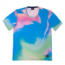 Camiseta Masculina Tie Dye Mint Total Sublimada - Area Verde