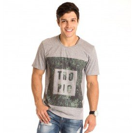 Camiseta Masculina Tropic Estampa Frontal - Area Verde