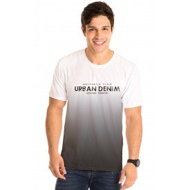 Camiseta Masculina Urban Denim Estampa Frontal - Area Verde